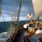Sailing Jantje aan dek.