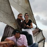 Sailing trip with group on traditional sailing ship