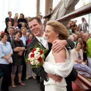 bryllup gifter seg med seilskip