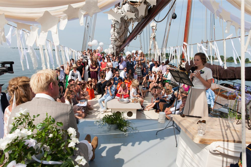 Trouwen bruiloft schip waddeneiland