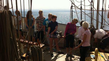 vela jove estudiants vaixell d'altura